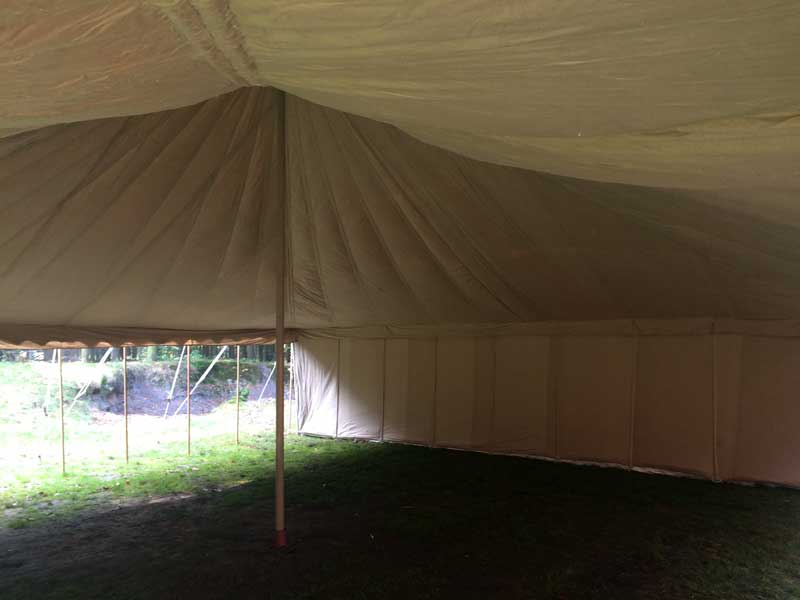 safari tent interieur